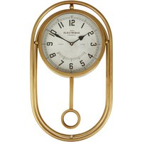 Premier Housewares Agnes Wall Clock - Gold Finish