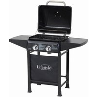 Lifestyle Appliances Cuba 2 Burner Gas BBQ with Side Shelves