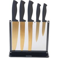 Salter 5-Piece Knife Block - Black and Gold