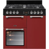 Leisure CK90F232R 90cm Cookmaster Dual Fuel Range Cooker - Red