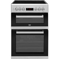 Beko KDC653S Freestanding 60cm Double Oven Electric Cooker - Silver