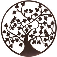 "My Botanical Garden Iron Wall Decoration ""Birds In Tree"" - Medium"