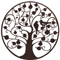 "My Botanical Garden Iron Wall Decoration ""Birds In Tree"" - Large"