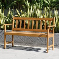 LifestyleGarden Lamu 2 Seater Eucalyptus FSC Wooden Bench