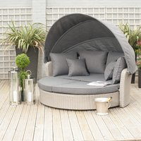 Pacific Lifestyle Cayman/Barbados Day Bed - Stone Grey