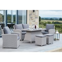 Pacific Lifestyle Barbados 2 Seater Relaxed Dining Set - Slate Grey