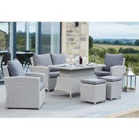 Pacific Lifestyle Barbados 2 Seater Relaxed Dining Set - Stone Grey