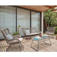 Pacific Lifestyle Brisbane 4 Piece Lounge Set - Grey