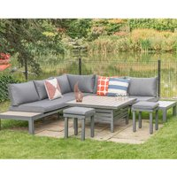 LG Outdoor Milano Modular Dining Set with Footstools