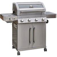 Grillstream Gourmet 4 Burner Hybrid with Steak Shelf - Stainless Steel