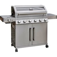 Grillstream Gourmet 6 Burner Hybrid with Steak Shelf - Stainless Steel
