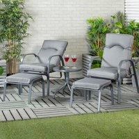 Monaco 2-Seater Reclining Set with Footstools