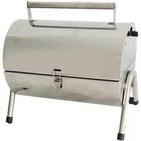 Flamemaster Portable Barrel Charcoal BBQ - Stainless steel