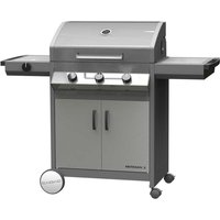 Cadac Meridian 3 Burner S/S Gas BBQ Plus Baking Stone and Reversible Grill Plate