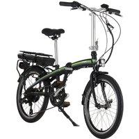 "Lombardo Ischia Folding E-bike 20"" Wheel - Green/Black"