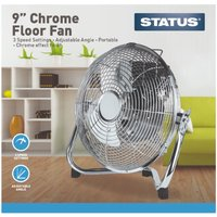 "Status 9"" Fan - Chrome"