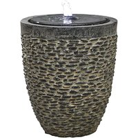 Kelkay Cobble Stone Water Feature with LED Lights