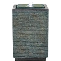 Kelkay Mosaic Cube Water Feature with LED Lights