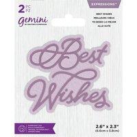 Gemini Die - Expressions - Best Wishes