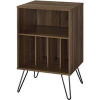 Solstice Anthe Turntable Stand with Storage - Walnut
