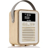 View Quest VQ Retro Mini DAB+ Digital & FM Radio with Bluetooth and Dual Alarm Clock - Oak