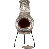 La Hacienda Maple Leaf Medium Chimenea - Bronze effect