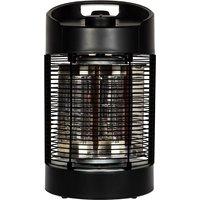 La Hacienda Black Series Nero Revolving Tabletop Heater - Carbon Fibre Elements 350/700W IPX4 - Black
