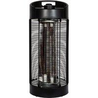 La Hacienda Black Series Nerva Table Revolving Heater - Carbon Fibre Elements 600/1200W IPX4 - Black