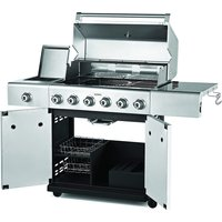 Outback Jupiter 6-Burner Hybrid Gas and Charcoal Barbecue - Stainless Steel