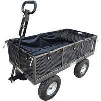 The Handy 400kg (880lb) Garden Trolley with Liner and Tool Tray
