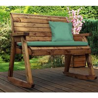 Charles Taylor Bench Rocker with Green Cushions