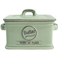 T&G Woodware T&G Pride of Place Green Butter Dish - 300ml