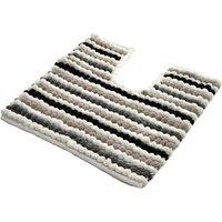 Allure California Stripe Pedestal Mat - Monochrome