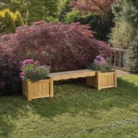 Woodshaw Hanbury Bench with Planters