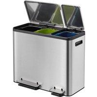 EKO Ecocasa Recycling Bin 45L - Stainless Steel