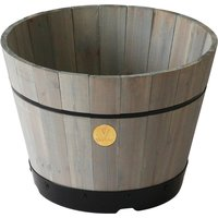 VegTrug Small 37cm Barrel Tapered Planter - Grey Wash