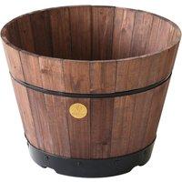 VegTrug Medium 46cm Barrel Tapered Planter - Dark Brown