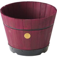 VegTrug Medium 46cm Barrel Tapered Planter - Burgundy