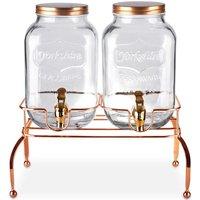 Benross Double Glass Drinks Dispenser - Copper