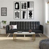 Dorel Emily Convertble Sofa - Black Faux Leather