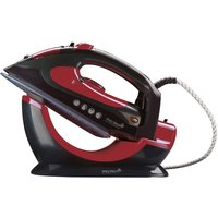 Easy Steam 2-in-1 Corded/Cordless Ceramic Steam Iron - Red & Black