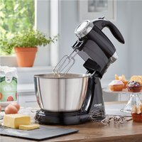 Cooks Professional 2-in-1 Hand Whisk and Stand Mixer - Black & Silver