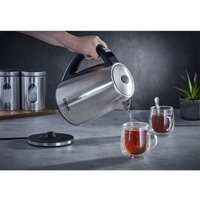 Cooks Professional G4192 1.7L 2200W Temperature Control Glass Kettle - Stainless Steel