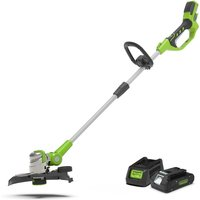Greenworks 24v Cordless Deluxe Line Trimmer with 2Ah Lithium-ion Battery and Charger