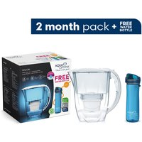Aqua Optima Oria Water Filter Jug including 2 x 30 Day Evolve+ Water Filter Cartridge plus FREE Bottle