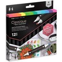 Classique by Spectrum Noir 12 Marker Set - Bright