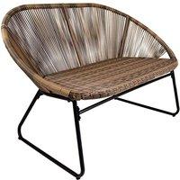 Charles Bentley Bali 2 Seater Bench - Natural