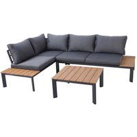 Charles Bentley Polywood and Steel Lounge Set With Recliner