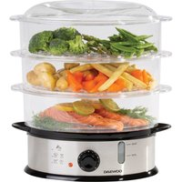 Daewoo 1200W 9L 3-Layer Food Steamer - Silver