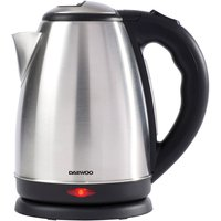 Daewoo 1.8L 2200W Brush-Finish Jug Kettle - Silver